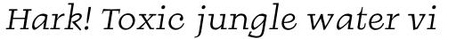 Burgstaedt Antiqua Italic sample