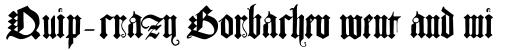 Albrecht Durer Gothic sample