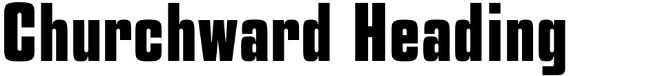 Click to view  Churchward Heading font, character set and sample text