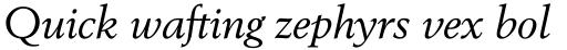 Berling Std Italic sample