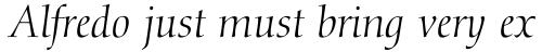 Diotima Italic sample