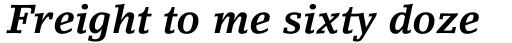 LinoLetter Bold Italic sample