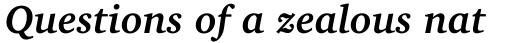 Charter BT Bd Pro Bold Italic sample