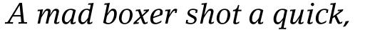 LinoLetter Italic Oldstyle Figures sample