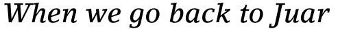 LinoLetter Medium Italic Oldstyle Figures sample