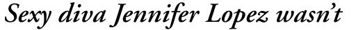 Adobe Garamond SemiBold Italic Oldstyle Figures sample