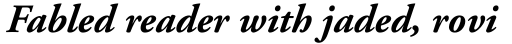 Adobe Garamond Bold Italic Oldstyle Figures sample