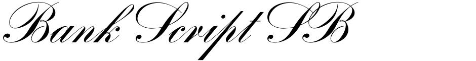 Click to view Bank Script SB font, character set and sample text
