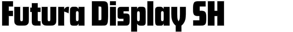 Click to view Futura Display SH font, character set and sample text