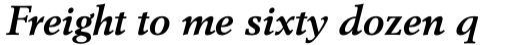 Berling Std Bold Italic sample