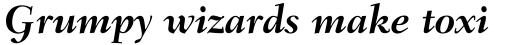 Fairfield LH 76 Swash Bold Italic Old Style Figures sample