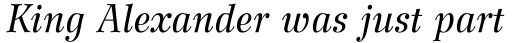 Wilke 56 Italic sample