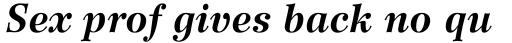 Wilke 76 Bold Italic sample