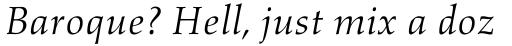 Aldus Italic sample