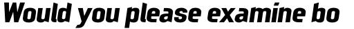 Mechanic Gothic DST Bold Italic sample