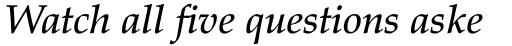 Palatino Medium Italic sample