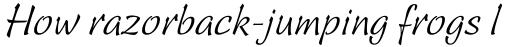 Linotype Sallwey Script sample