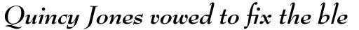 Bernhard Modern Bold Italic sample