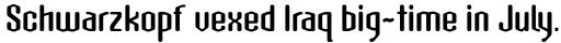 Atomic Sans ICG Bold sample