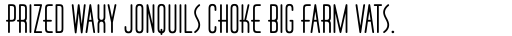 Huxley Vert ICG Alt Bold sample