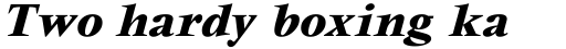 Vendome ICG Bold Italic sample