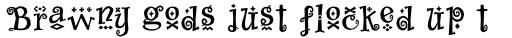 Whimsy Baroque ICG Bold sample