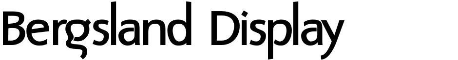 Click to view Bergsland Display font, character set and sample text