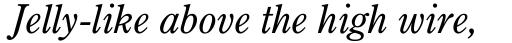 Century Oldstyle Italic sample