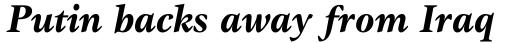 Gamma Bold Italic sample