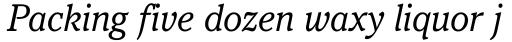 Pacella Book Italic sample