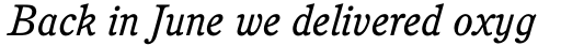 Cushing Book Italic sample