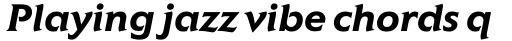 Elan Bold Italic sample