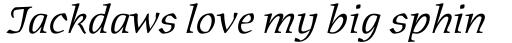 Oldrichium Light Italic sample
