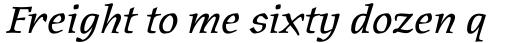 Oldrichium Italic sample