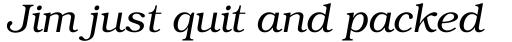 ITC Bookman Light Italic sample