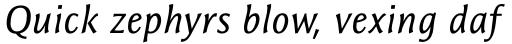 Resavska Sans Medium Italic sample
