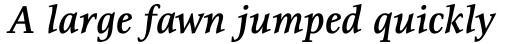 Resavska Medium Bold Italic sample