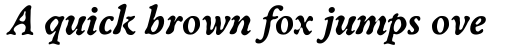 Oldbook Bold Italic sample