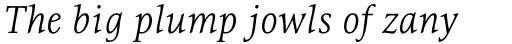 Resavska Light Italic sample