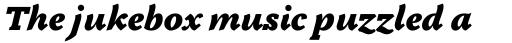 Tactile Ultra Italic sample