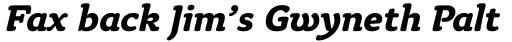 Tyke Bold Italic OS sample