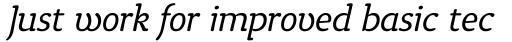 Tyke Light Italic OS sample
