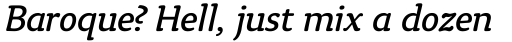 Tyke Book Italic sample