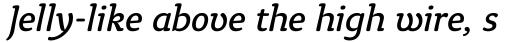 Tyke Book Italic OS sample