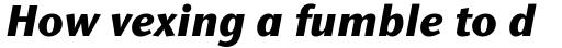 Stone Humanist Medium Bold Italic sample
