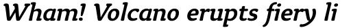 Tyke Medium Italic OS sample