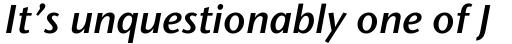 Stone Humanist Semi Italic sample