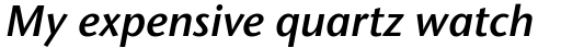 Stone Humanist Semi OsF Italic sample