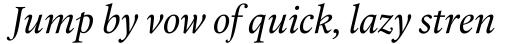 Laurentian Italic sample