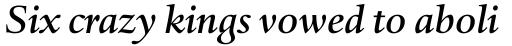 Haarlemmer MT Medium Italic sample